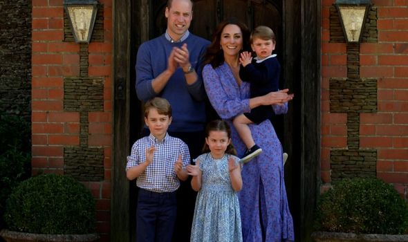 Prince George title: Prince George, Prince William and Princess Charlotte