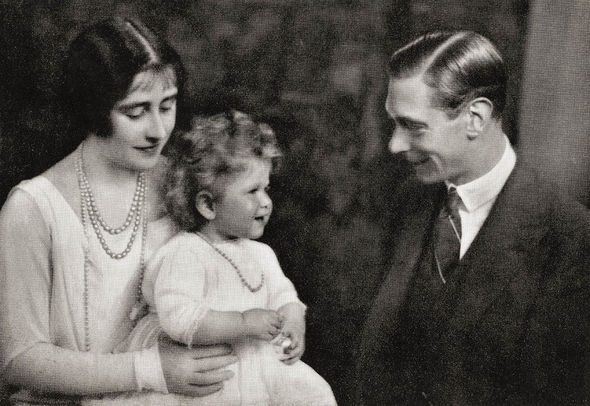 Queen heartbreak: Princess Elizabeth with her mother and father, then the Duke and Duchess of York
