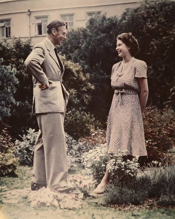 Queen heartbreak Then Princess Elizabeth and her father King George VI