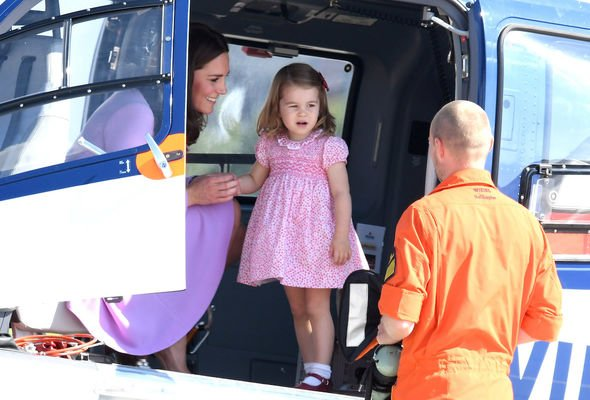 Royal tour: The princess eventually boarded the helicopter after throwing herself on the floor