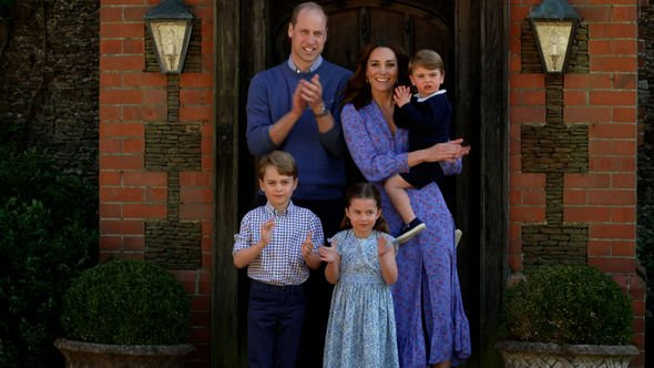 The Duke and Duchess of Cambridge with family