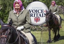 The Queen was pictured riding her horse