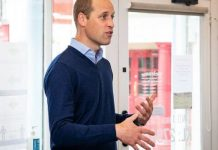 Prince William with the word 'king' behind him