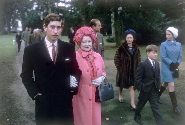 Young Prince Philip title: Prince Charles and the Queen Mother