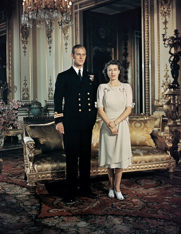 Young Prince Philip title: The Queen and Prince Philip