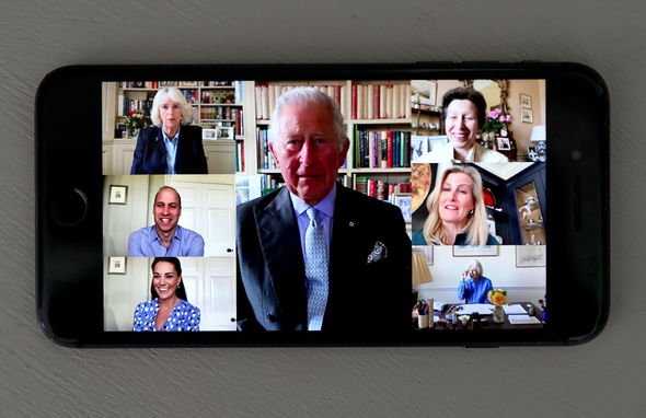 Camilla, Duchess of Cornwall, Prince Charles, Prince of Wales, Prince William, Duke of Cambridge, Catherine, Duchess of Cambridge, Sophie, Countess of
