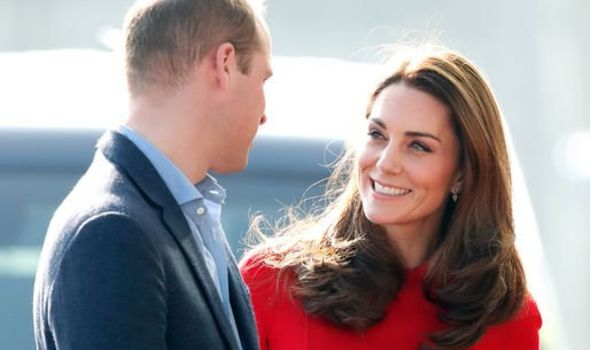 Prince William, Duke of Cambridge and Catherine, Duchess of Cambridge arrive for a visit to Windsor Park Stadium