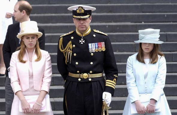 Princess Beatrice snub: Princesses Beatrice and Eugenie and the Duke of York