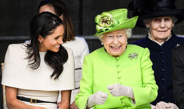Meghan and the Queen seemed to hit it off during their first joint royal engagement