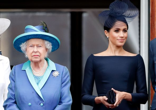The new book Royals at War theorises that the baptism came after years of tension between the Queen and Prince Harry and his wife Meghan Markle