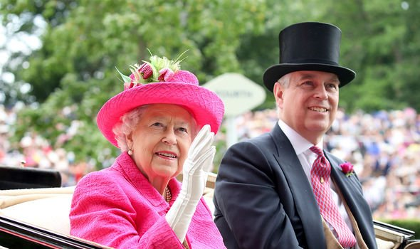 The Queen has been seen with Andrew in public despite the wave of negative publicity he has received since his 'car-crash' interview