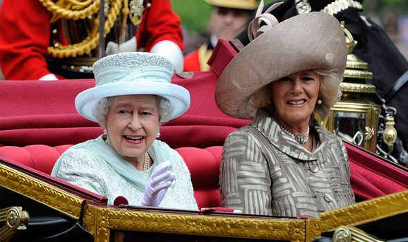 Camilla pictured next to the Queen in 2012 during her Diamond Jubilee procession