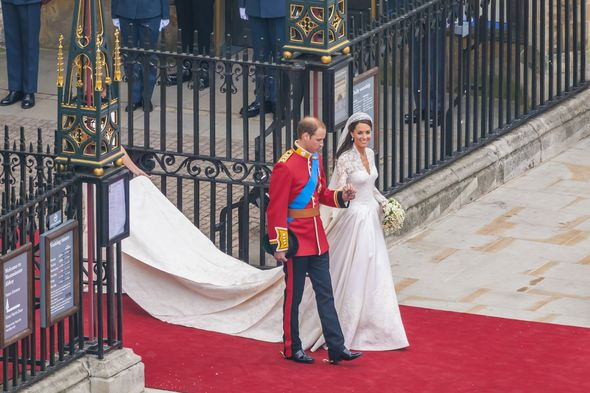 Kate and William after royal wedding holding hands