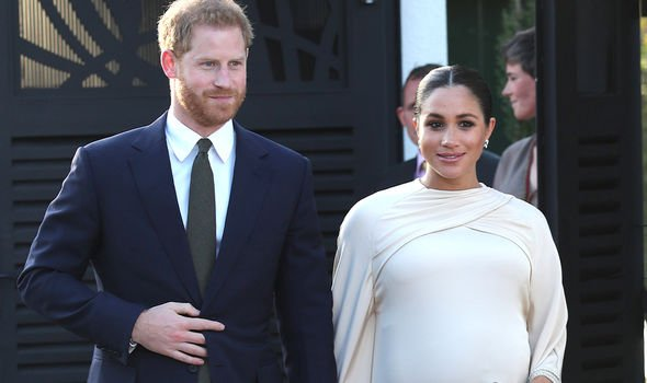 Meghan was seven and a half months pregnant when she went to Morocco with Harry
