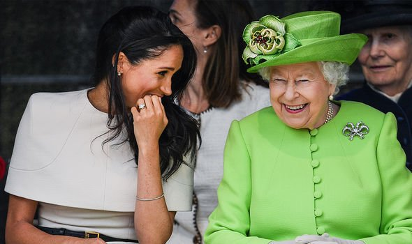 The Queen and Meghan appeared to bond during their trip to Cheshire in 2018