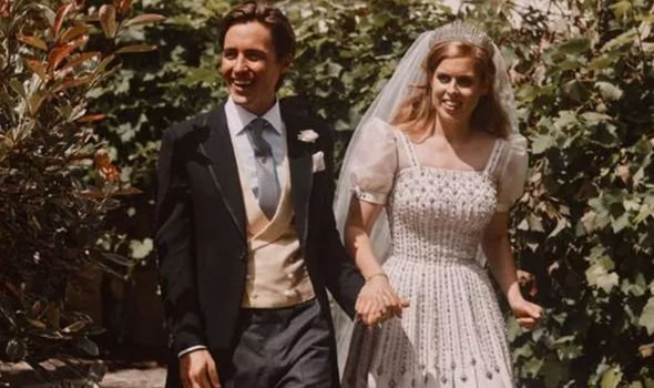Andrew did not appear in any of Beatrice's official wedding photographs