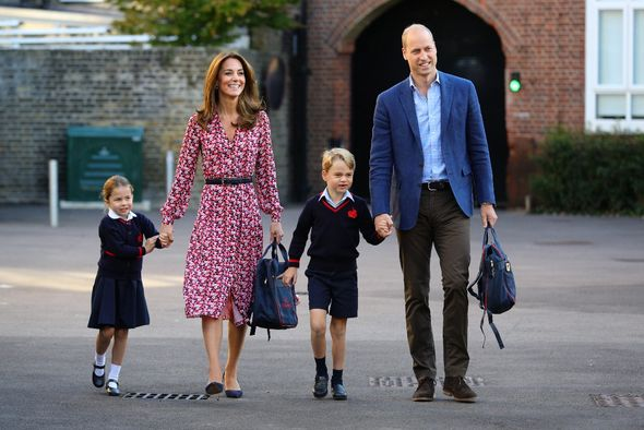 The Duke and the Duchess of Cambridge with Prince George and Princess Charlotte