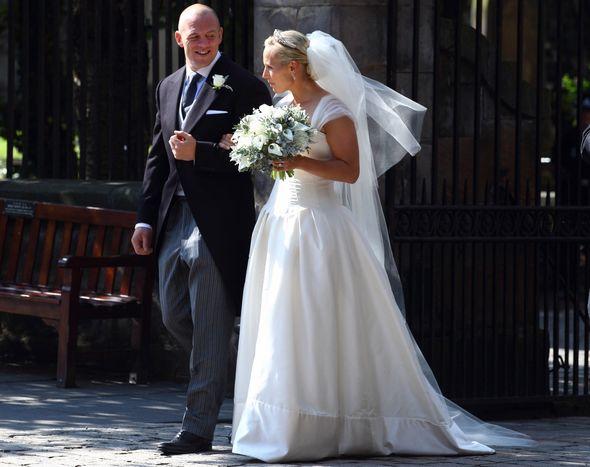 Zara and Mike Tindall's wedding day