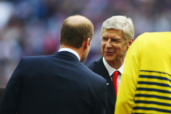 Arsenal latest: William meets Arsene Wenger at FA Cup Final between Aston Villa and Arsenal in 2015