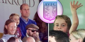 Aston Villa: Prince George melted hearts while attending the game with his dad last year