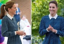 Kate Middleton blue dress NHS