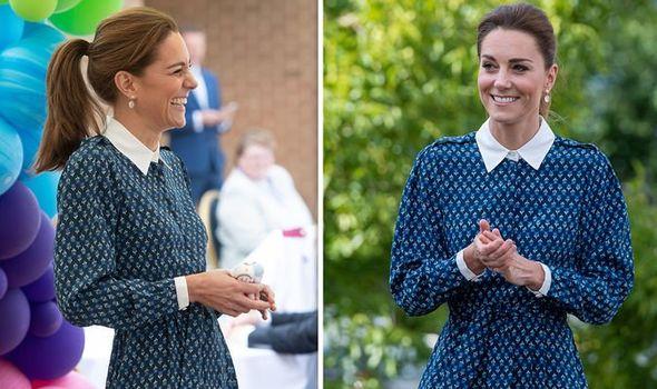Kate Middleton blue dress NHS