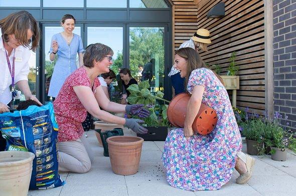 Kate Middleton building garden