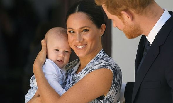Meghan Markle and Prince Harry with their son