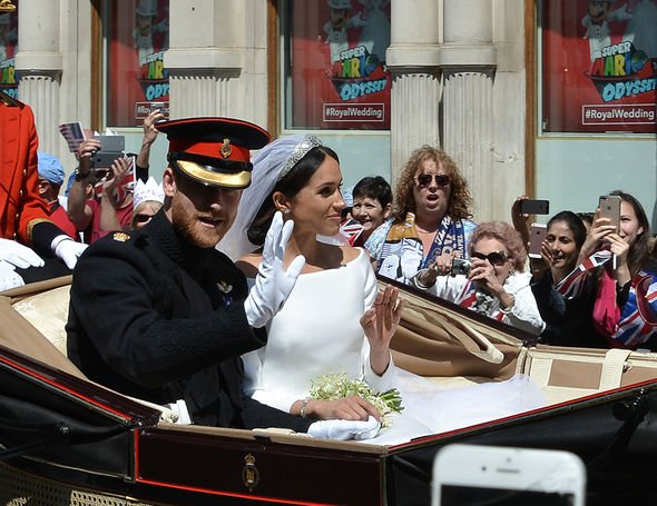 Prince Harry, Duke of Sussex, and his new bride, Meghan, Duchess of Sussex