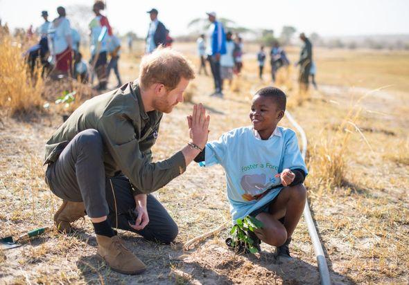 Prince Harry heartbreak: Harry in Botswana