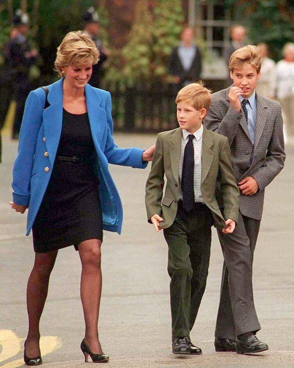 Prince Harry tribute: Princess Diana, Prince Harry and Prince William