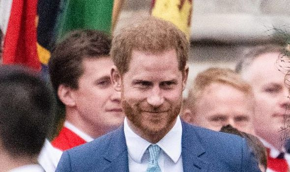 Prince harry in a crowd