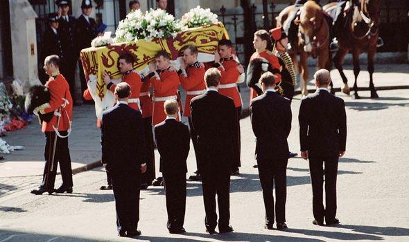 Princess Diana's funeral in 1997