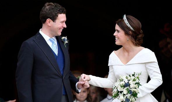 Princess Eugenie name: Eugenie and Jack Brooksbank on their wedding day