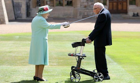Queen Elizabeth II Sir Tom Moore