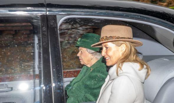Queen Elizabeth II news: The Queen and Sophie in a car
