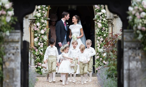 Royal latest: Pippa and James pictured at the chapel