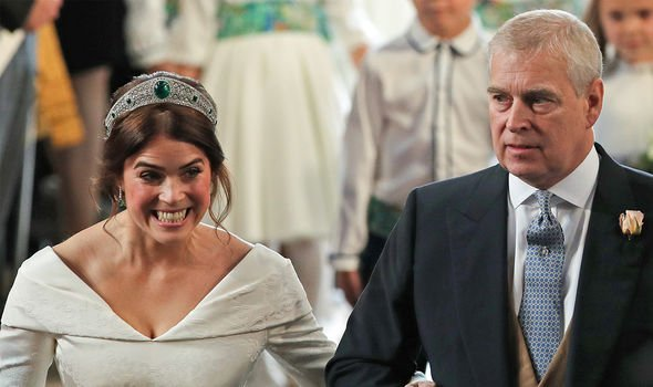 prince andrew princess eugenie