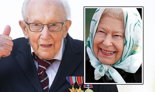 queen news captain tom moore knighthood NHS fundraising royal family news queen elizabeth ii