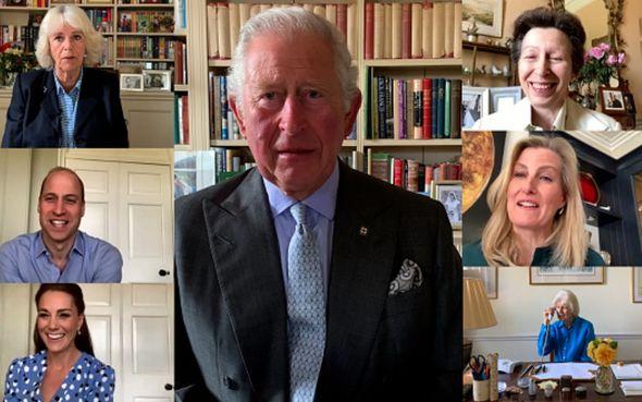 royal family news prince charles, prince william, kate middleton, camilla, princess anne video call