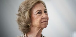 Queen Sofia looking off camera