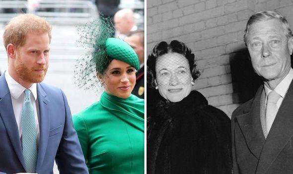 Prince Harry, Meghan Markle, Wallis Simpson and Edward VIII, later the Duke of Windsor