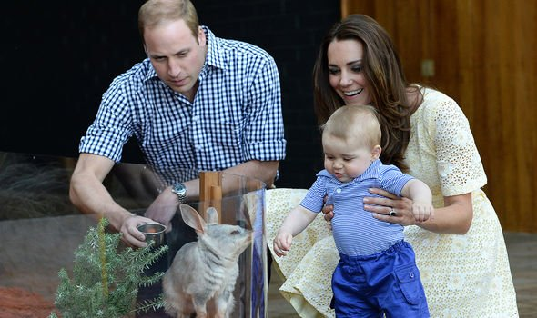 William and Kate introduce George to a bilby named after him