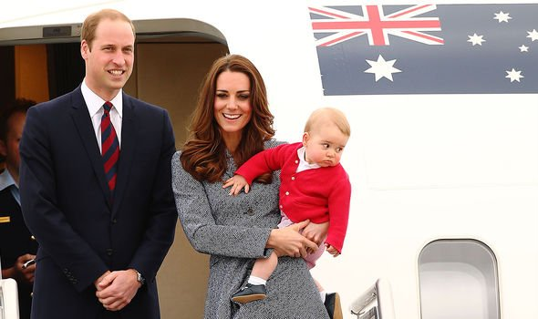 William and Kate took Prince George on their royal tour in 2014