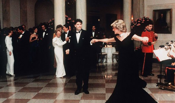 Diana was very popular herself in the US - pictured dancing with John Travolta