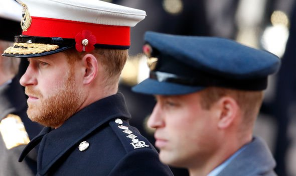 Harry and William are thought to still be feuding