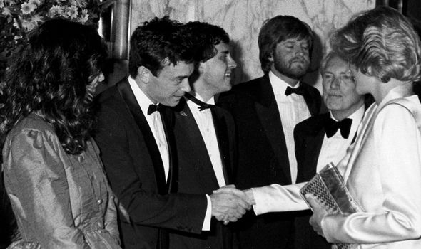 Ghislaine Maxwell meeting Diana at the 1984 film premiere of Indiana Jones and the Temple of Doom