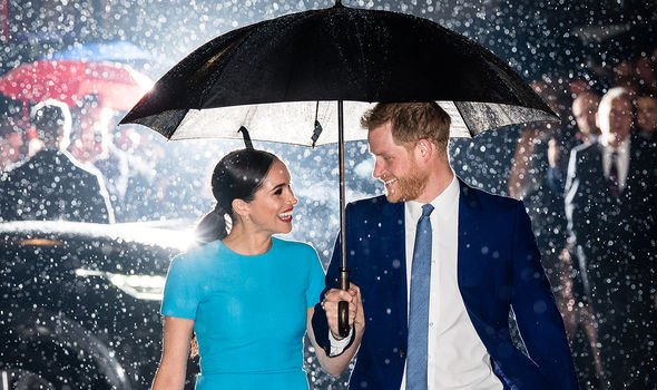 Meghan and Harry during one of their last royal engagements in March