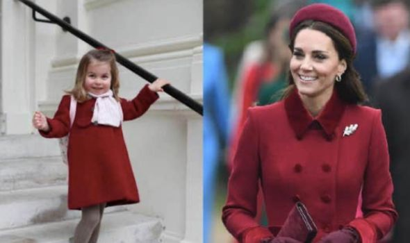 Cambridges: Charlotte on her first day of nursery and the Duchess on Christmas Day in 2018