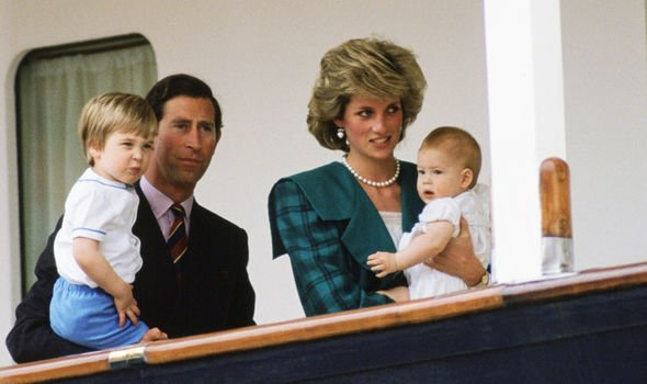 Charles, Diana, Harry and William